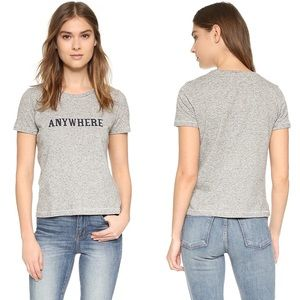 MADEWELL Anywhere Striped Gray Graphic Tee